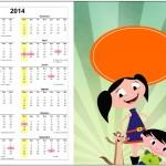 Convite Calendário 2014 2 Show da Luna