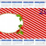 Convite Calendário 2014 Fundo Natal Vermelho e Verde