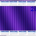 Convite Calendário 2014 Fundo Roxo