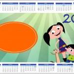 Convite Calendário 2014 Show da Luna para Meninos