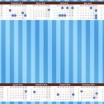 Convite Calendário 2015 Fundo Azul e Verde