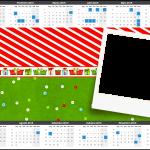 Convite Calendário 2015 Fundo Natal Vermelho e Verde