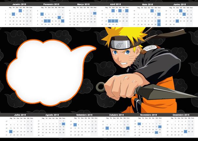 Convite Calendário 2015 Naruto