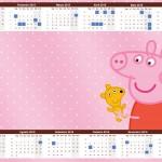 Convite Calendário 2015 Peppa Pig e Teddy