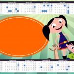 Convite Calendário 2015 Show da Luna para Meninos