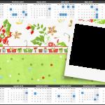 Convite Calendário Fundo Natal Verde e Branco