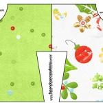 Convite Camisa Fundo Natal Verde e Branco