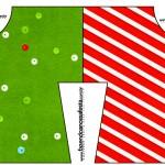 Convite Camisa Fundo Natal Vermelho e Verde