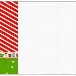 Convite, Cardápio ou Cronograma em Z Fundo Natal Vermelho e Verde