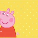 Convite, Cardápio ou Cronograma em Z Peppa Pig e Teddy