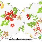 Convite Cupcake Fundo Natal Verde e Branco