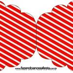 Convite Cupcake Fundo Natal Vermelho e Verde