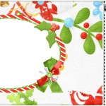 Convite Ingresso Fundo Natal Verde e Branco