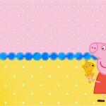 Convite Peppa Pig e Teddy