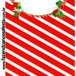 Convite Pirulito Fundo Natal Vermelho e Verde