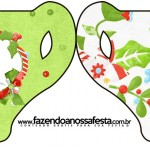 Convite Xícara Fundo Natal Verde e Branco