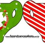 Convite Xícara Fundo Natal Vermelho e Verde