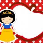 Convite ou Cartão Branca de Neve Cute