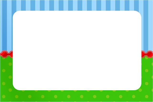 Convite ou Cartão Fundo Azul e Verde