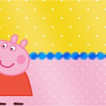 Convite ou Cartão Peppa Pig e Teddy