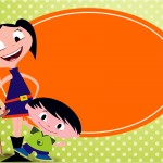 Convite ou Cartão Show da Luna para MeninosConvite ou Cartão Show da Luna para Meninos