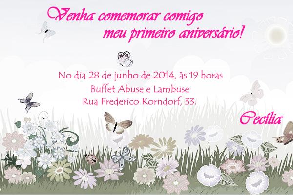 Convite Pronto Verso Festa Jardim Encantado