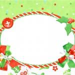 Convite,Moldura e Cartão Fundo Natal Verde e Branco