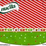Creminho Nucita Fundo Natal Vermelho e Verde