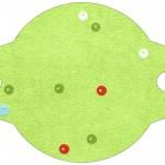 Enfeite Canudinho Fundo Natal Verde e Branco