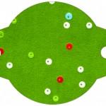 Enfeite Canudinho Fundo Natal Vermelho e Verde
