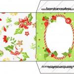 Envelope CD DVD Fundo Natal Verde e Branco