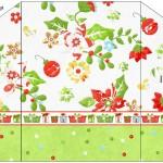 Envelope Convite Fundo Natal Verde e Branco