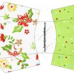 Envelope Fritas Fundo Natal Verde e Branco
