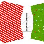 Envelope Fritas Fundo Natal Vermelho e Verde