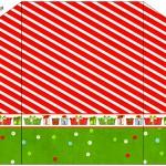 Envelope Fundo Natal Vermelho e Verde