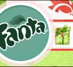 Fanta Fundo Natal Verde e Branco