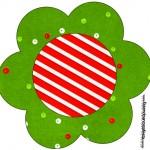 Flor Fundo Natal Vermelho e Verde