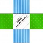 Forminhas Docinhos Fundo Azul e Verde