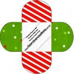 Forminhas Docinhos Fundo Natal Vermelho e Verde 2