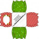 Forminhas Docinhos Fundo Natal Vermelho e Verde Flor