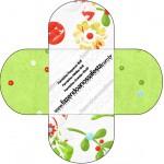Forminhas Docinhos Redonda Fundo Natal Verde e Branco