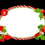 Frame Fundo Natal Vermelho e Verde
