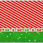 Lata de Leite Fundo Natal Vermelho e Verde