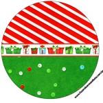 Latinhas, Tubetes e Toppers Fundo Natal Vermelho e Verde