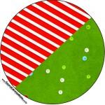 Latinhas,Toppers e Tubetes Fundo Natal Vermelho e Verde