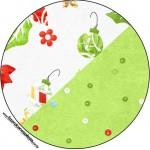 Latinhas,Tubetes e Toppers Fundo Natal Verde e Branco