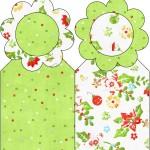 Marcador de Páginas Fundo Natal Verde e Branco