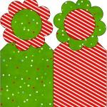 Marcador de Páginas Fundo Natal Vermelho e Verde