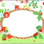 Marmita 500gr Fundo Natal Verde e Branco