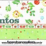Mentos Fundo Natal Verde e Branco